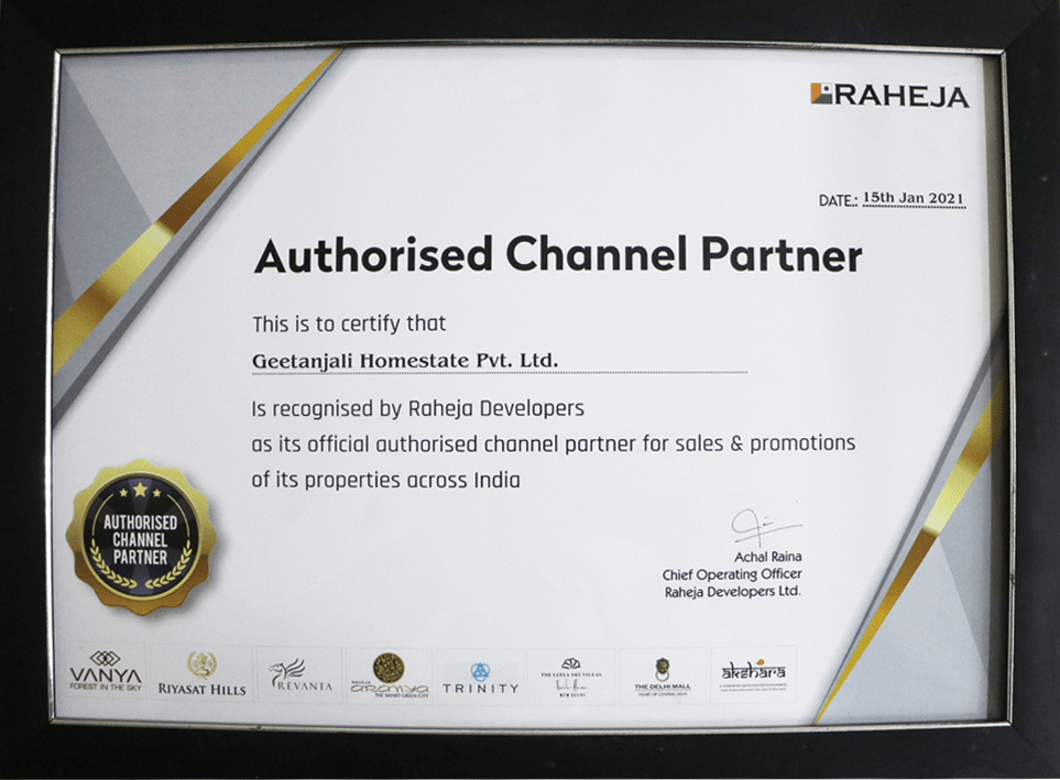 Best Authorised Channel Partner By Raheja Developer in 2021