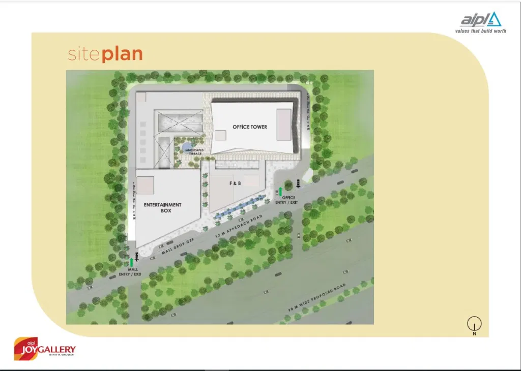 AIPL Joy Gallery Siteplan